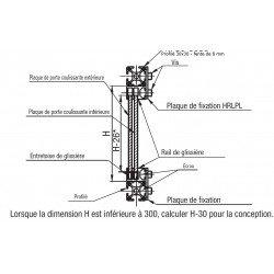 Rail de glissière à fente de 8 mm - 2 rangées
