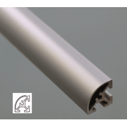 Rounded Aluminium Profile 6mm Slot 20x20