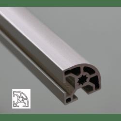 Profilé aluminium arrondi 30x30 - fente de 8 mm