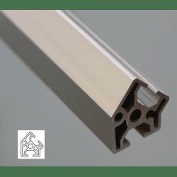 Profilé aluminium 30x30 angle de 45° - fente de 8 mm