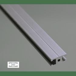 Flat Aluminium Profile 6mm Slot 20x10