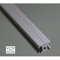 Flat Aluminium Profile 6mm Slot 20x15