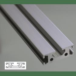 Flat Aluminium Profile 6mm and 8 mm Slot 40x15