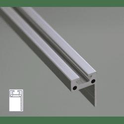 Profilé aluminium plat en L 30x20 - fente de 6 mm