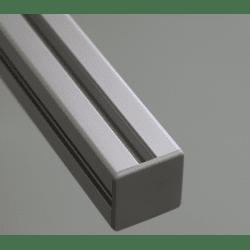 Embout de protection pour profilés aluminium 40x40 fente de 10mm - Gris