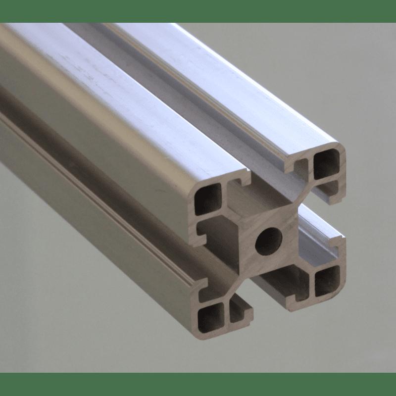 Profilé aluminium 40x40 fente 8 mm Type I