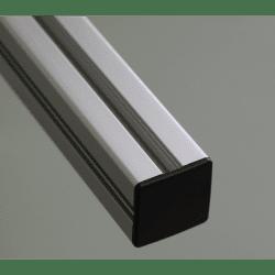 Embout de protection pour profilés aluminium 30x30 fente de 8mm - Noir
