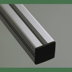 End Cap 50x50 10 mm slot profile - Black