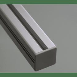 Embout de protection pour profilés aluminium 50x50 fente de 10mm - Gris