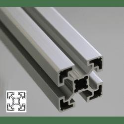 Profilé aluminium 40x40 fente 10 mm - type léger
