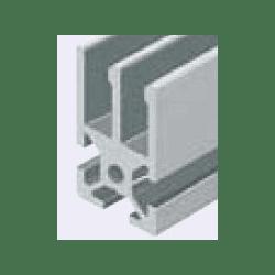 Aluminium Profile 6mm Slot 20x20 for 2 slidings panels