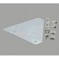 Corner fastening plate for 20x20 profile with 6mm slot