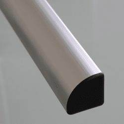 Embout de protection pour Profilé aluminium 20x20 arrondi à fente de 6mm (Ø3,3mm) - Noir
