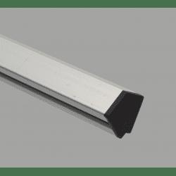 Embout de protection pour profilés20x20 angle de 60° - fente de 6 mm - Noir