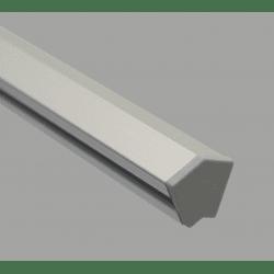 Embout de protection pour profilés20x20 angle de 30° - fente de 6 mm - Gris