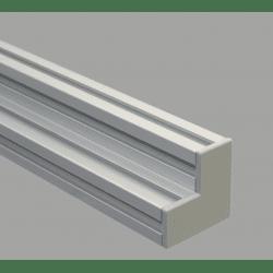 Protective cap for 80x80x40 aluminium profiles with 10mm slot – Grey
