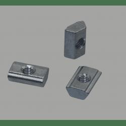 Lot de 10 écrous de fixation post-montage pour profilés à fente de 8 mm - Taraudage M3