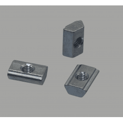 Lot de 10 écrous de fixation post-montage pour profilés à fente de 8 mm - Taraudage M6