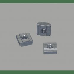 Lot de 10 écrous de fixation pour profilés à fente de 10 mm - Taraudage M6