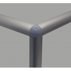 Assembly connector – three round 6mm profiles – Grey (Ø3.3mm hole)