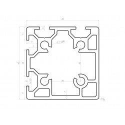 Profilé aluminium 60x60 fente 8 mm
