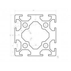 Aluminium profile 60x60 8mm slot – heavy duty