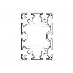 Aluminium profile 60x90 8mm slot