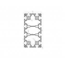 Aluminium profile 60x120 8mm slot