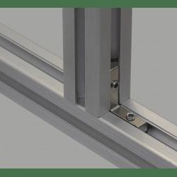 Inner fastening bracket for 8mm profiles