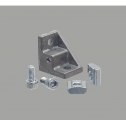 Equerre de fixation profilés 8 mm - avec trou de fixation