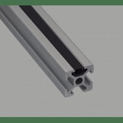 Cover profile – 6mm slot, black
