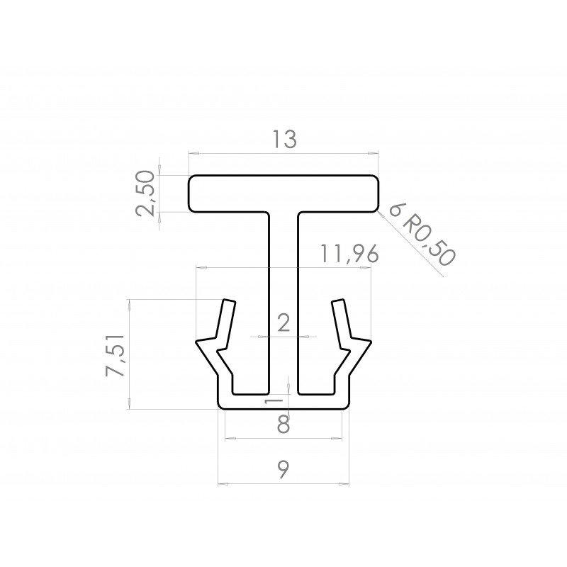 Connecteur rails de glissières / profilé aluminium 10 mm