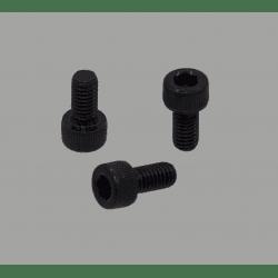 Lot de 10 vis de fixation noires pour profilé à fente de 8mm - Filetage M6 - Tête à six pans creux