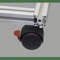 Roulette charge 40kg- avec frein - M8