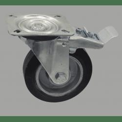 Roulette charge 250 kg - Montage à plateau - Avec frein