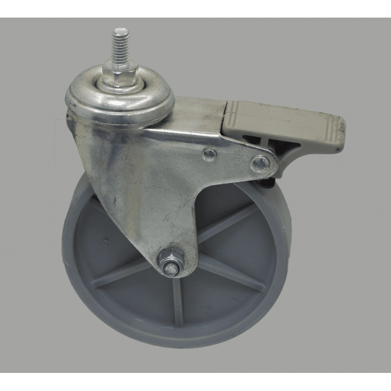 Roulette charge 80kg - avec frein - M8