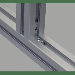 Inner fastening bracket for 6mm profiles