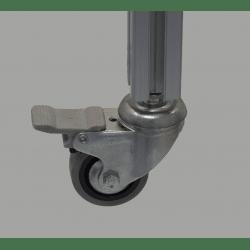 Roulette charge 35kg - avec frein - M8