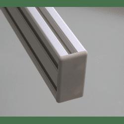 Protective cap for 40x80 aluminium profiles with 10mm slot – Grey