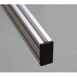 Embout de protection pour profilés aluminium 40x80 fente de 10mm - Noir