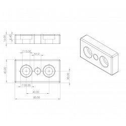 Plaque 40x80 - Filetage M12