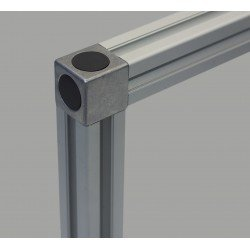Assembly connector – 8mm profiles 40x40 2 ways