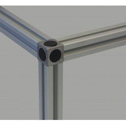 Assembly connector – three 10mm profiles