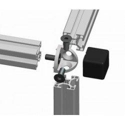 Raccord d'assemblage - 3 profilés 30x30 8 mm - Noir