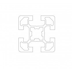 Aluminium profile 45x45 four 10mm slots