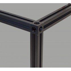 Raccord d'assemblage cubique pour profilés 20x20 mm - 3 voies - Noir