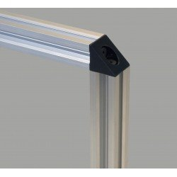 20x20 mounting bracket for 6 mm slot profiles - Black