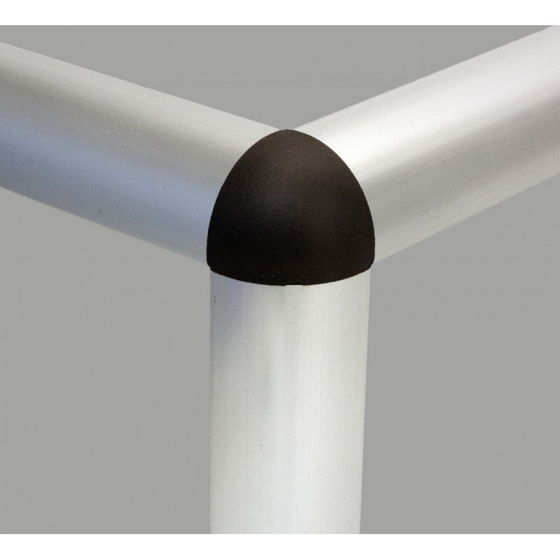 Raccord d'assemblage - 3 profilés 30x30 arrondis 8 mm - Noir