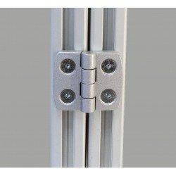 Aluminium hinge for profiles with 6mm slot