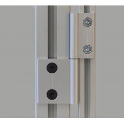 Charnière dégondable en aluminium pour profilés 20 et 40
